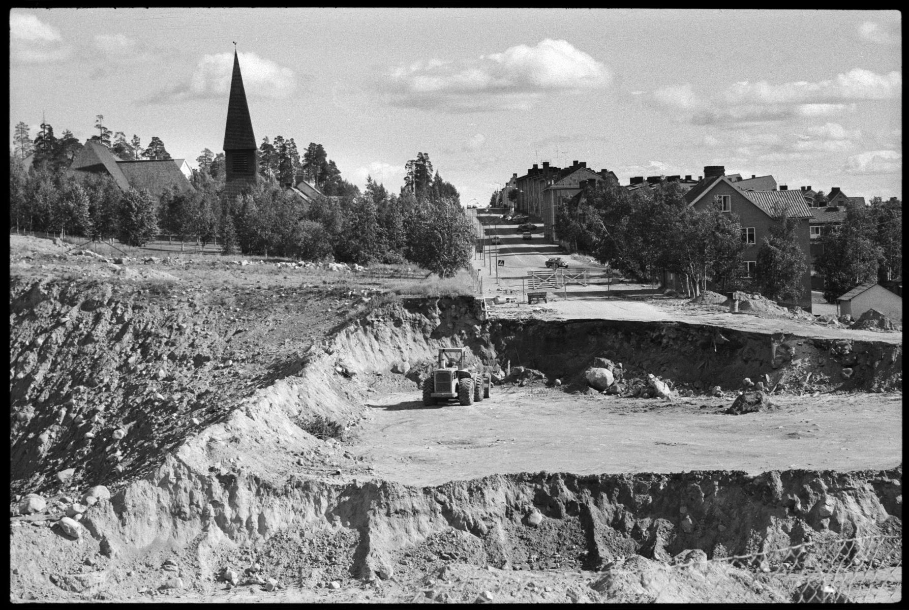 Kaptensvägen Malmberget, augusti 1972