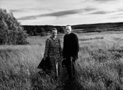 Småbrukarna Tea och Alberg Johansson, Nyåker 1957
