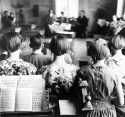 Examen i Holmöns skola 1956
