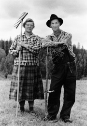 Småbrukarna Vera och Frits Eriksson, Öre-Långsele 1966